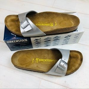 Birkenstock Madrid Sandals Silver with box Size 11